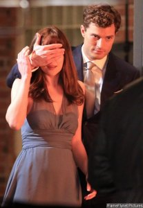 Jamie Dornan Blindfolds Dakota Johnson in 'Fifty Shades of Grey'