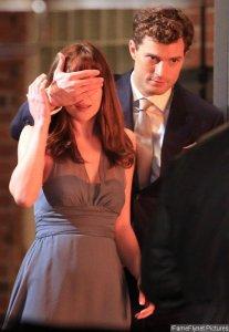 Jamie Dornan Blindfolds Dakota Johnson in 'Fifty Shades of Grey'