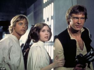 Seventh Star Wars will star Harrison Ford Carrie Fisher and Mark Hamill