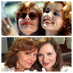Thelma and Louise then and now selfie