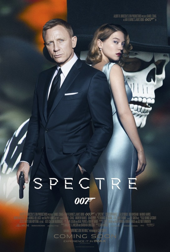 SPECTRE Bond as a dead man official posters