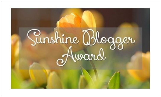 CFY Sunshine Blogger award